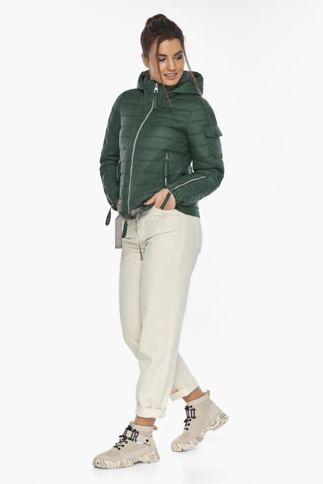 """Фирменная куртка женская на весну нефритовая модель 62574 Braggart """"Angel's Fluff"""" фото 2"""