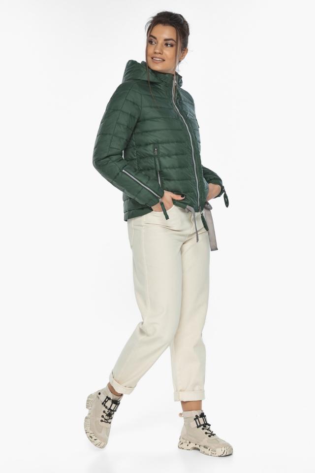"""Фирменная куртка женская на весну нефритовая модель 62574 Braggart """"Angel's Fluff"""" фото 5"""