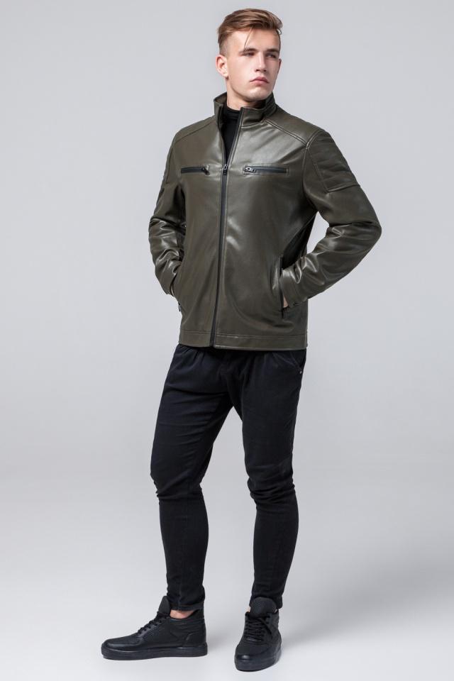 """Куртка из искусственной кожи цвет хаки модель 2612 Braggart """"Youth"""" фото 2"""