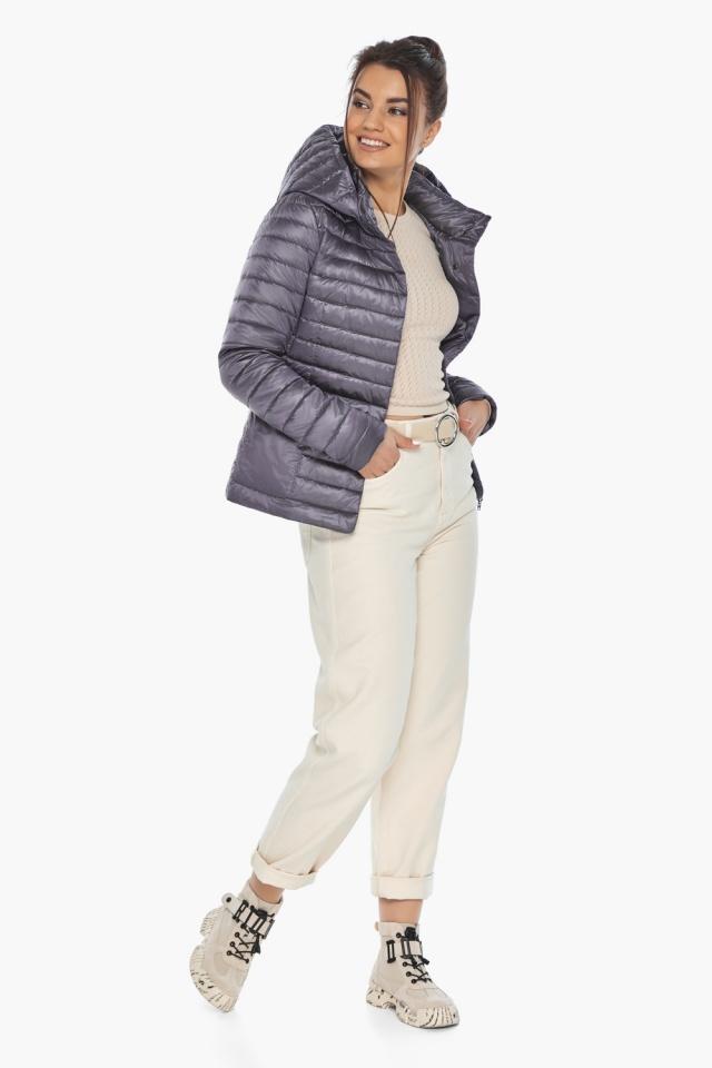 """Осенне-весенняя лавандовая куртка женская брендовая модель 67510 Braggart """"Angel's Fluff"""" фото 4"""