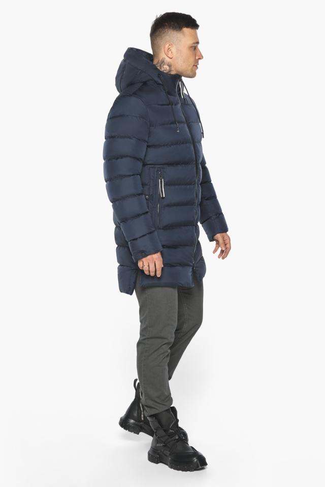 "Зимняя практичная куртка мужская тёмно-синяя модель 49008 Braggart ""Aggressive"" фото 6"