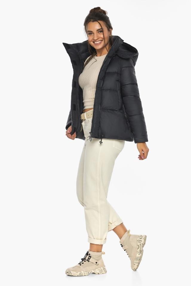 """Куртка черная женская фирменная модель 43560 Braggart """"Angel's Fluff"""" фото 2"""