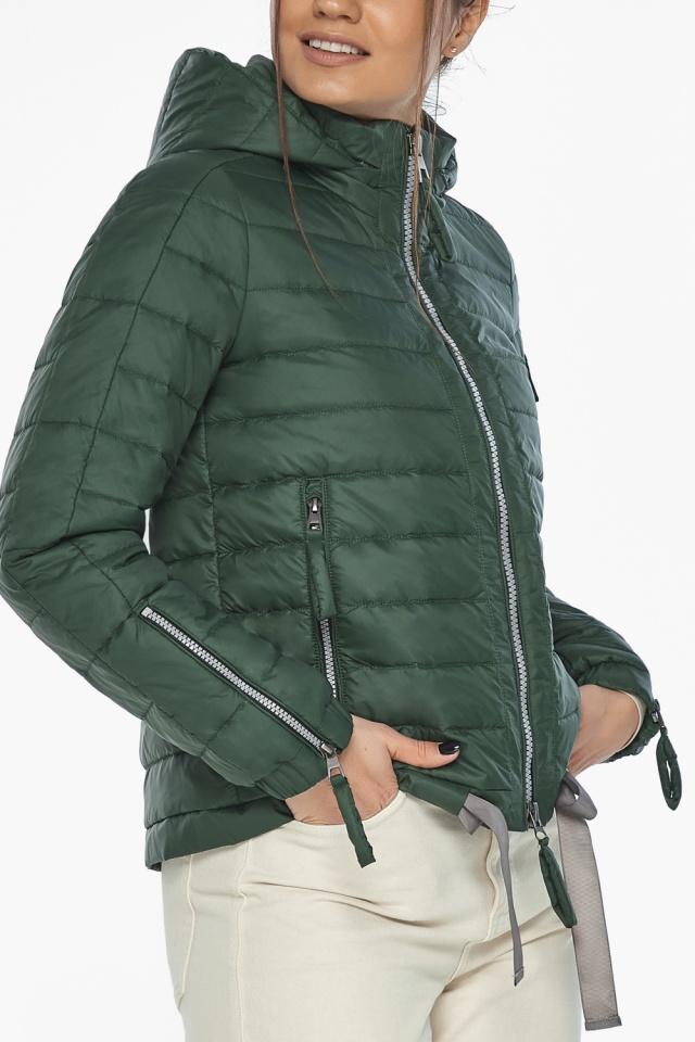 """Фирменная куртка женская на весну нефритовая модель 62574 Braggart """"Angel's Fluff"""" фото 7"""