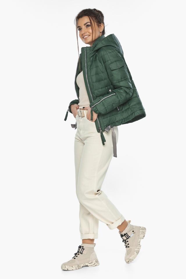 """Фирменная куртка женская на весну нефритовая модель 62574 Braggart """"Angel's Fluff"""" фото 3"""