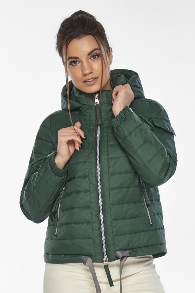 """Фирменная куртка женская на весну нефритовая модель 62574 Braggart """"Angel's Fluff"""" фото 4"""