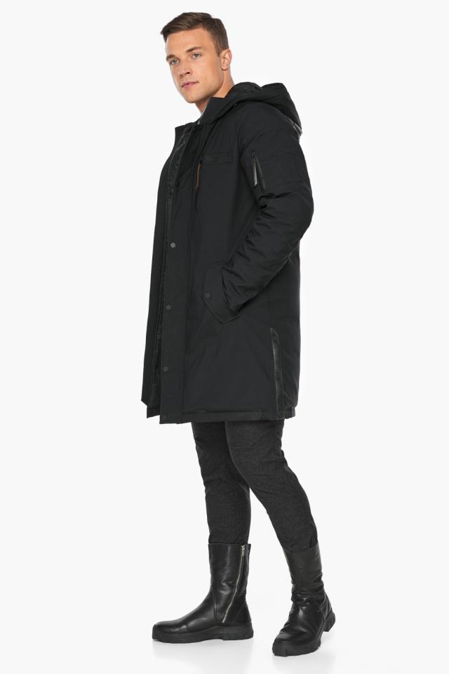 """Парка – воздуховик стильный зимний мужской чёрный модель 38012 Braggart """"Angel's Fluff Man"""" фото 4"""