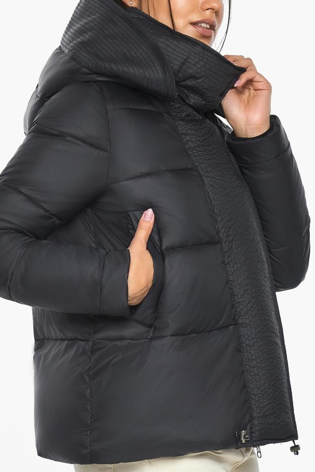 """Куртка черная женская фирменная модель 43560 Braggart """"Angel's Fluff"""" фото 9"""