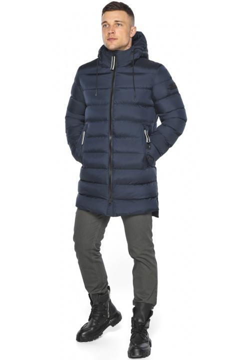 "Зимняя практичная куртка мужская тёмно-синяя модель 49008 Braggart ""Aggressive"" фото 1"