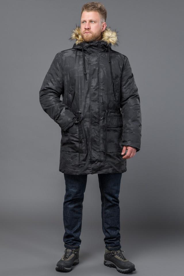 Зимняя дизайнерская парка для мужчин цвет черный модель 72315 Tiger Force фото 2