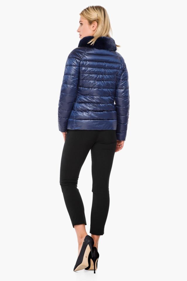 """Женская осенне-весенняя куртка с брендовой фурнитурой сапфировая модель 40267 Braggart """"Angel's Fluff"""" фото 5"""