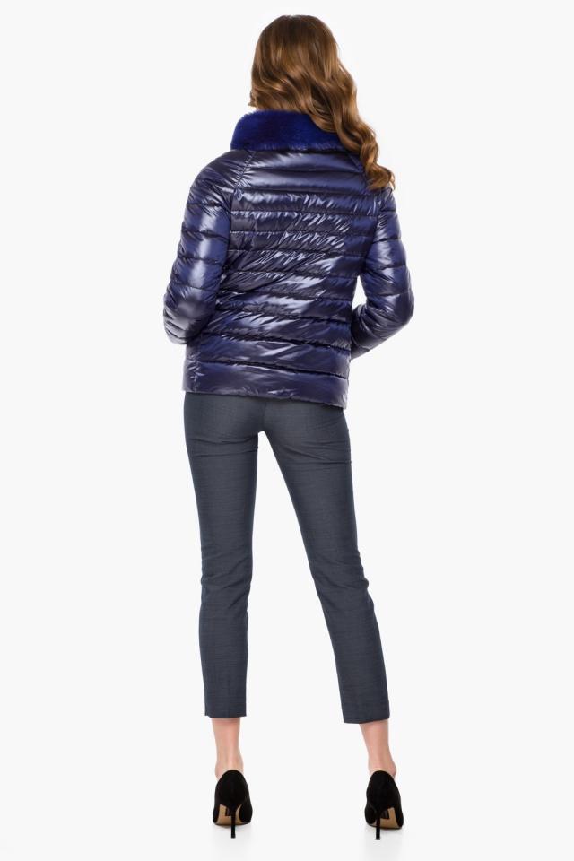 """Фиолетовая женская куртка осенне-весенняя короткая модель 40267 Braggart """"Angel's Fluff"""" фото 5"""