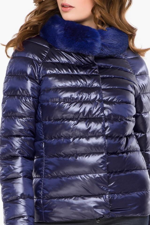 """Фиолетовая женская куртка осенне-весенняя короткая модель 40267 Braggart """"Angel's Fluff"""" фото 6"""
