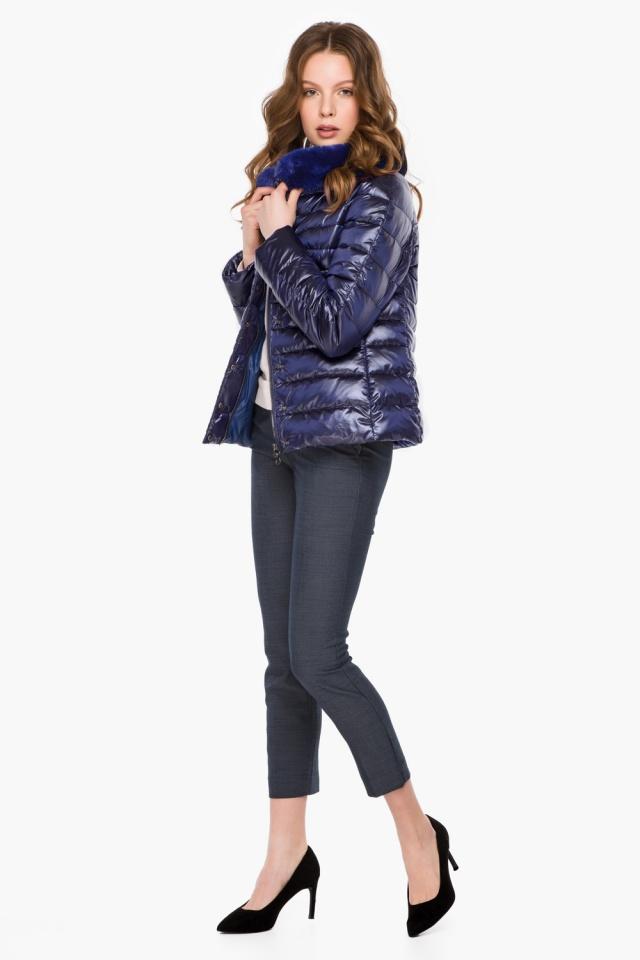 """Фиолетовая женская куртка осенне-весенняя короткая модель 40267 Braggart """"Angel's Fluff"""" фото 4"""