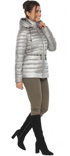 """Люксовая куртка женская осенняя цвет перламутровый светло-серый модель 63045 Braggart """"Angel's Fluff"""" фото 1"""