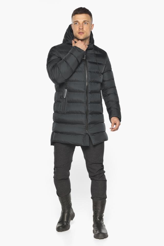 """Практичная мужская куртка зимняя графитовая модель 49008 Braggart """"Aggressive"""" фото 5"""