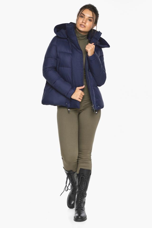 """Куртка синя коротка жіноча модель 43560 Braggart """"Angel's Fluff"""" фото 3"""