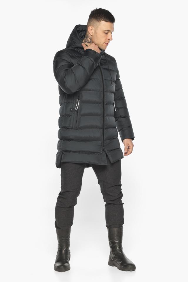 """Практичная мужская куртка зимняя графитовая модель 49008 Braggart """"Aggressive"""" фото 2"""