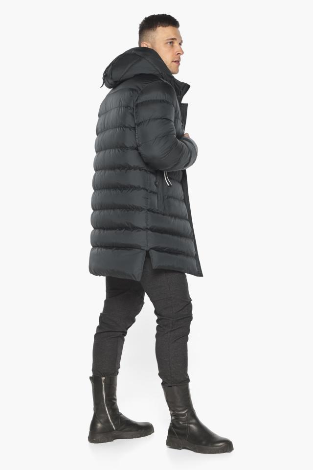 """Практичная мужская куртка зимняя графитовая модель 49008 Braggart """"Aggressive"""" фото 8"""