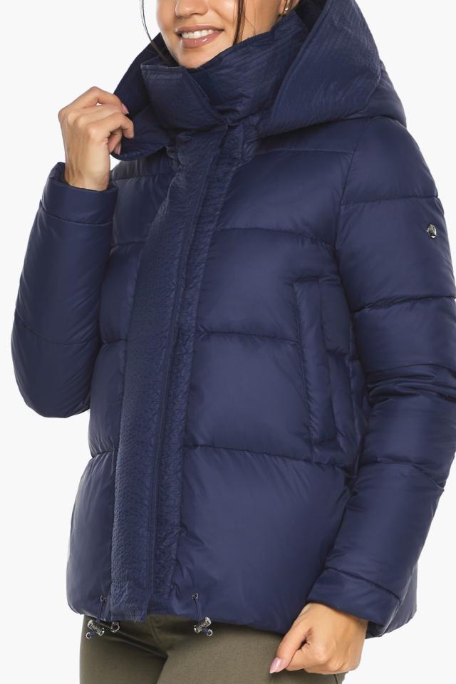 """Куртка синя коротка жіноча модель 43560 Braggart """"Angel's Fluff"""" фото 8"""