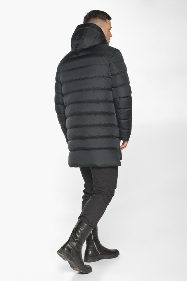 """Практичная мужская куртка зимняя графитовая модель 49008 Braggart """"Aggressive"""" фото 9"""