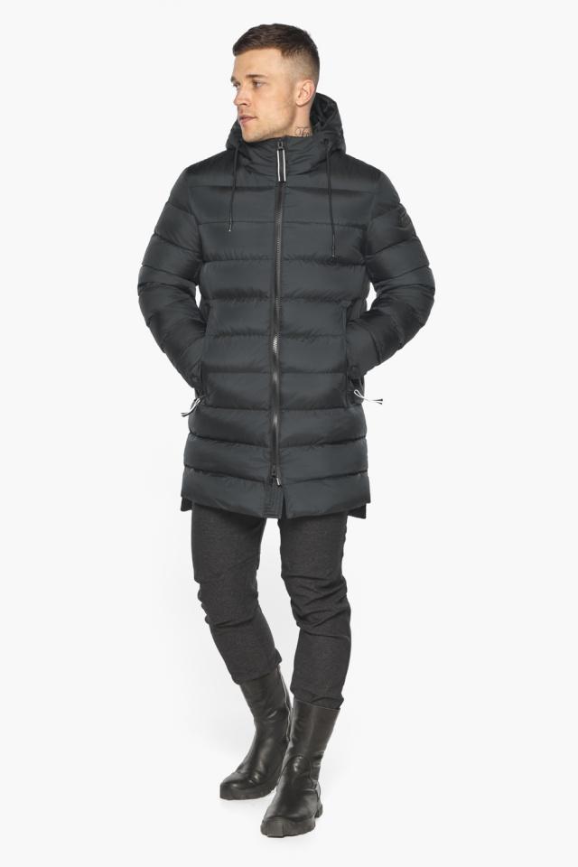 """Практичная мужская куртка зимняя графитовая модель 49008 Braggart """"Aggressive"""" фото 7"""