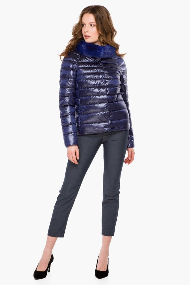 """Фиолетовая женская куртка осенне-весенняя короткая модель 40267 Braggart """"Angel's Fluff"""" фото 2"""