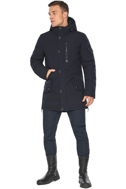 """Куртка – воздуховик на зиму для мужчин цвет синий модель 20140 Braggart """"Angel's Fluff Man"""" фото 1"""