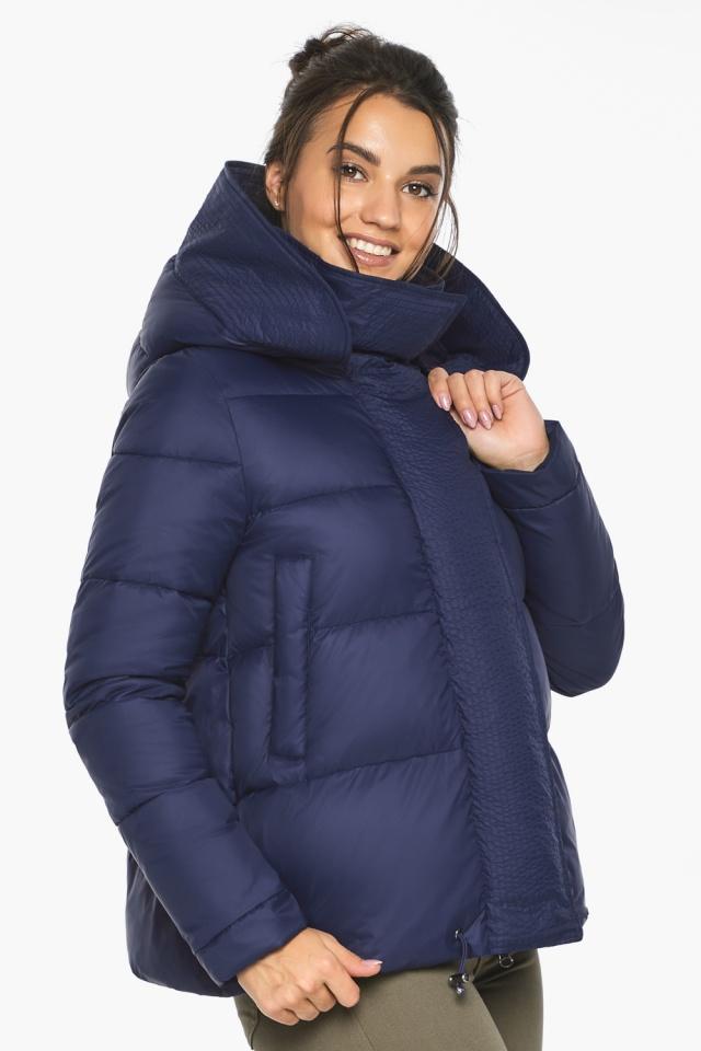 """Куртка синя коротка жіноча модель 43560 Braggart """"Angel's Fluff"""" фото 5"""