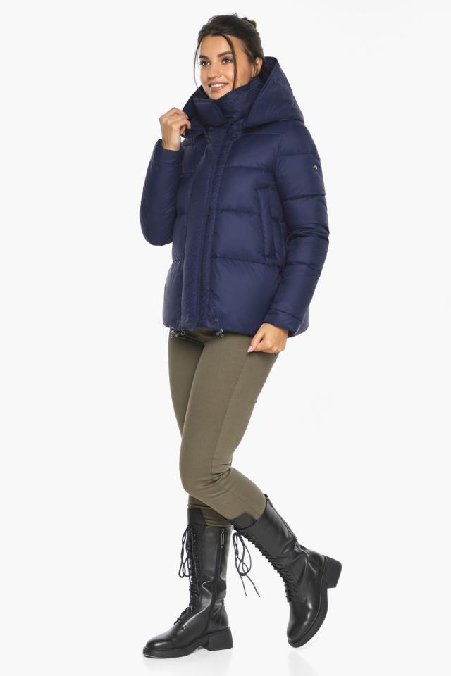 """Куртка синя коротка жіноча модель 43560 Braggart """"Angel's Fluff"""" фото 6"""