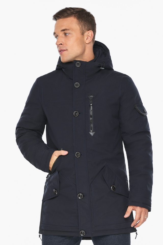 """Куртка – воздуховик на зиму для мужчин цвет синий модель 20140 Braggart """"Angel's Fluff Man"""" фото 4"""