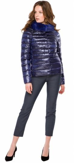 """Фиолетовая женская куртка осенне-весенняя короткая модель 40267 Braggart """"Angel's Fluff"""" фото 1"""