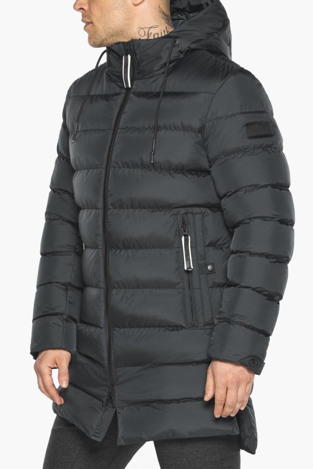 """Практичная мужская куртка зимняя графитовая модель 49008 Braggart """"Aggressive"""" фото 10"""