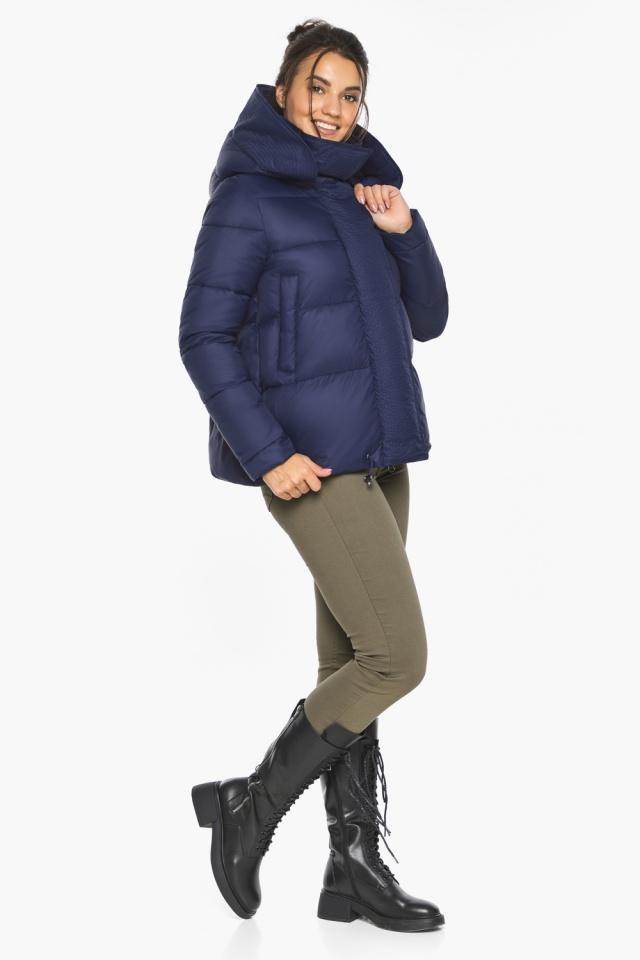 """Куртка синя коротка жіноча модель 43560 Braggart """"Angel's Fluff"""" фото 2"""