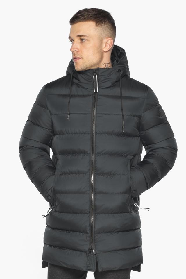 """Практичная мужская куртка зимняя графитовая модель 49008 Braggart """"Aggressive"""" фото 3"""