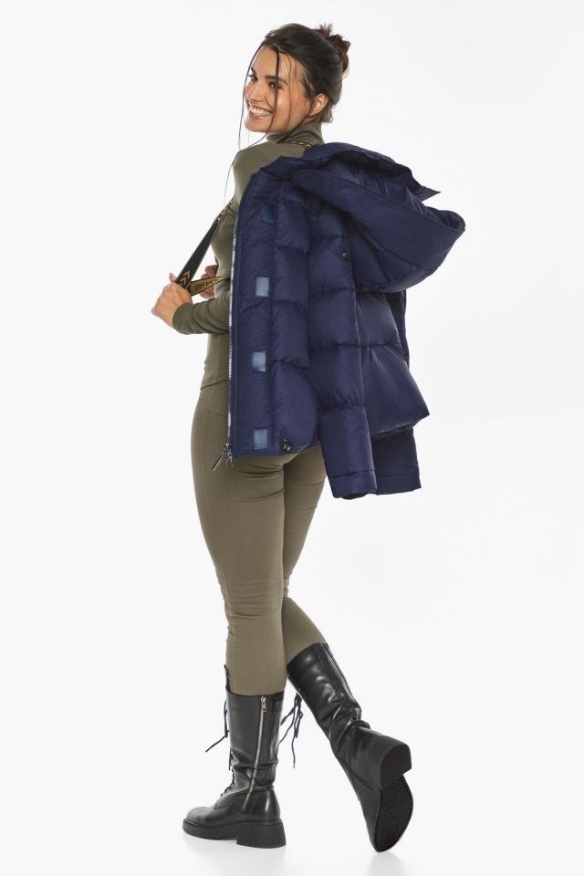 """Куртка синя коротка жіноча модель 43560 Braggart """"Angel's Fluff"""" фото 4"""
