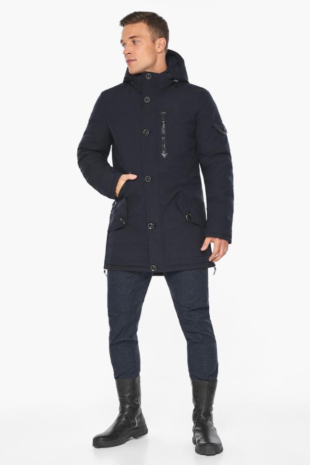 """Куртка – воздуховик на зиму для мужчин цвет синий модель 20140 Braggart """"Angel's Fluff Man"""" фото 2"""