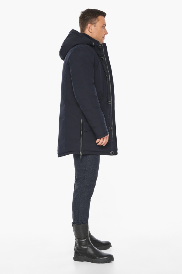"""Куртка – воздуховик на зиму для мужчин цвет синий модель 20140 Braggart """"Angel's Fluff Man"""" фото 6"""