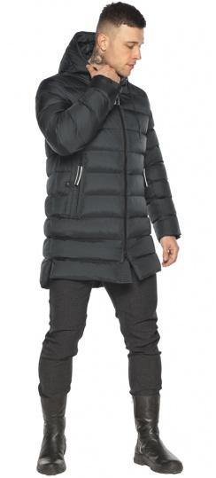 """Практичная мужская куртка зимняя графитовая модель 49008 Braggart """"Aggressive"""" фото 1"""