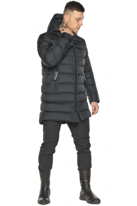 """Практична чоловіча куртка зимова графітова модель 49008 Braggart """"Aggressive"""" фото 1"""