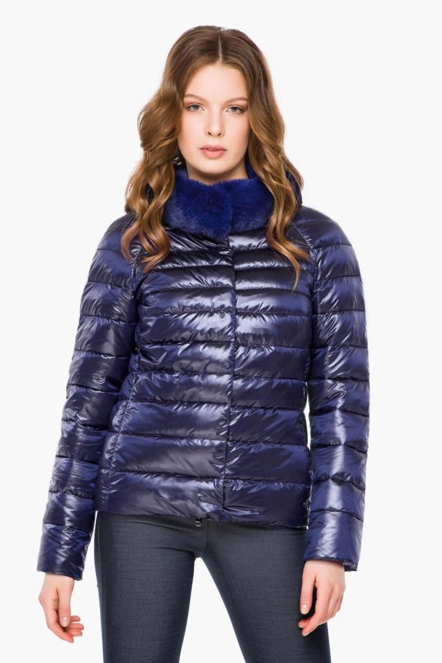 """Фиолетовая женская куртка осенне-весенняя короткая модель 40267 Braggart """"Angel's Fluff"""" фото 3"""