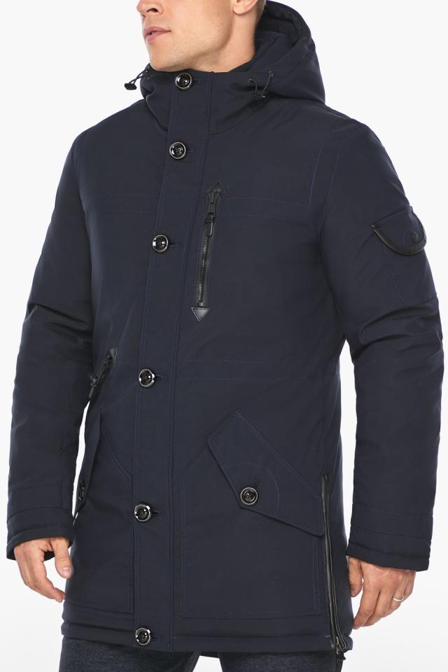 """Куртка – воздуховик на зиму для мужчин цвет синий модель 20140 Braggart """"Angel's Fluff Man"""" фото 8"""