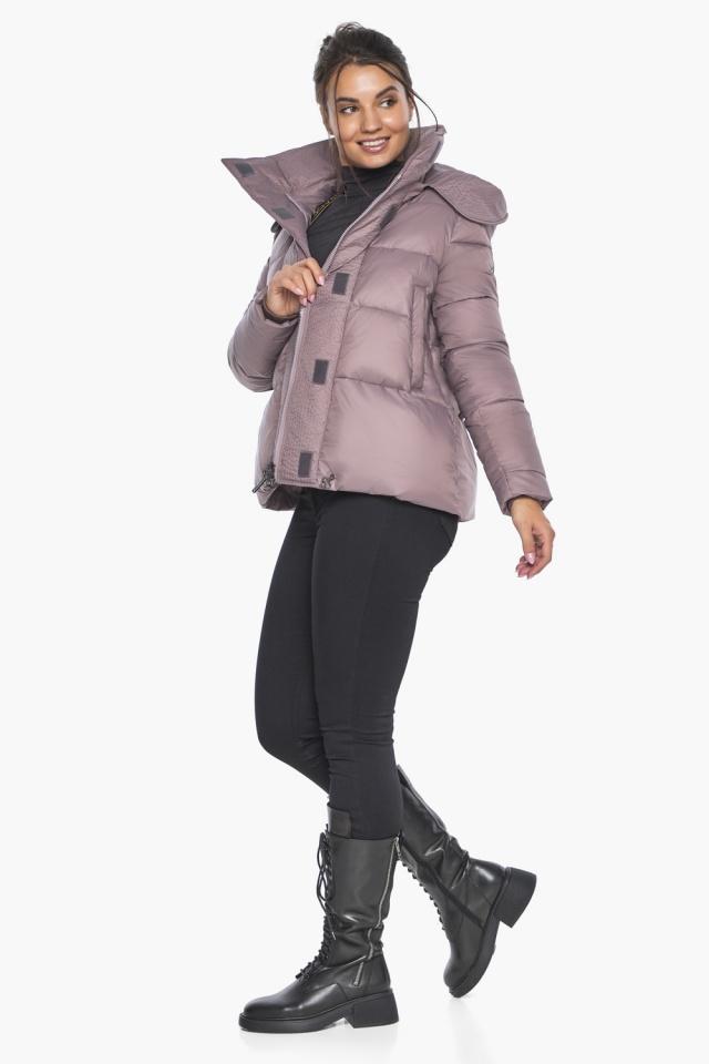 """Пудровая куртка с ветрозащитной планкой женская модель 43560 Braggart """"Angel's Fluff"""" фото 6"""