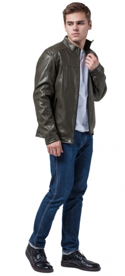 "Куртка-кожанка осень-весна цвет хаки модель 4834 Braggart ""Youth"" фото 1"