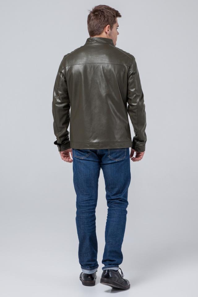 "Куртка-кожанка осень-весна цвет хаки модель 4834 Braggart ""Youth"" фото 5"