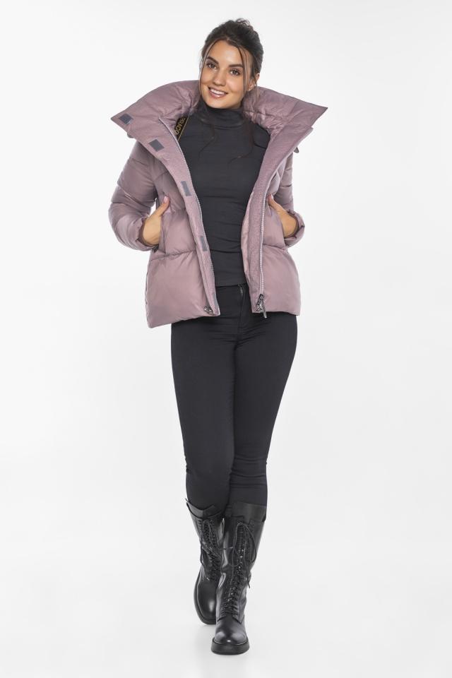 """Пудровая куртка с ветрозащитной планкой женская модель 43560 Braggart """"Angel's Fluff"""" фото 3"""