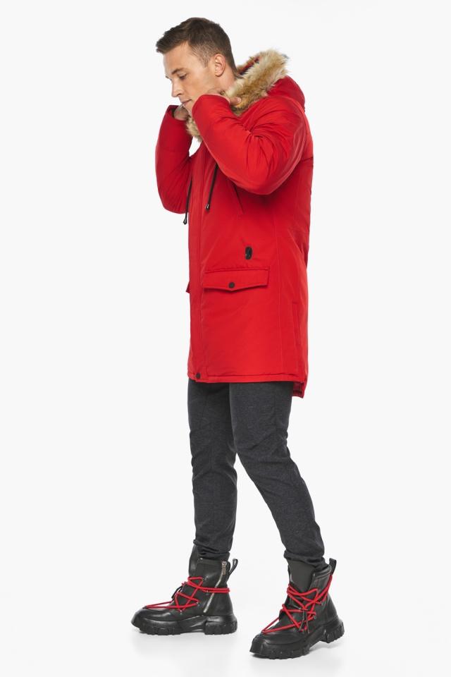 """Парка – воздуховик трендовый красный зимний мужской модель 45062 Braggart """"Angel's Fluff Man"""" фото 3"""