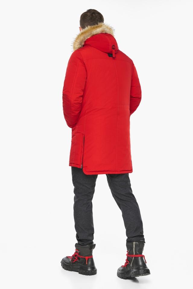 """Парка – воздуховик трендовый красный зимний мужской модель 45062 Braggart """"Angel's Fluff Man"""" фото 8"""