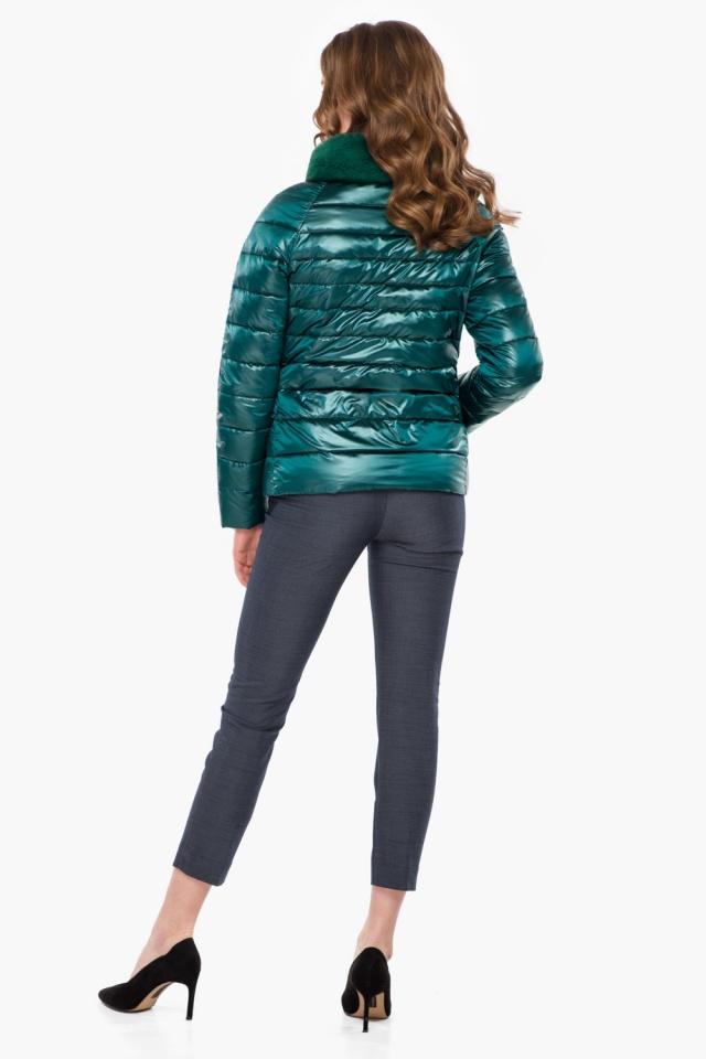 """Трендовая изумрудная осенне-весенняя куртка женская модель 40267 Braggart """"Angel's Fluff"""" фото 5"""