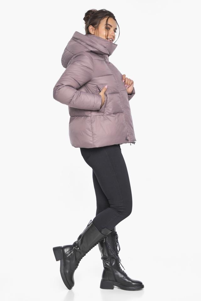 """Пудровая куртка с ветрозащитной планкой женская модель 43560 Braggart """"Angel's Fluff"""" фото 7"""