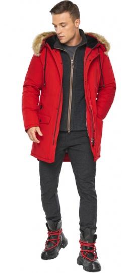 """Парка – воздуховик трендовый красный зимний мужской модель 45062 Braggart """"Angel's Fluff Man"""" фото 1"""